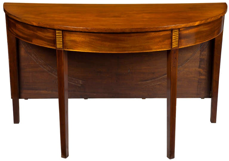 Federal Mahogany Hepplewhite Three Part Banquet Dining  : piece6roundtablehalfl from www.1stdibs.com size 768 x 540 jpeg 34kB