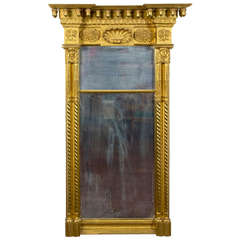 Magnificently Large Gilt Classical Mirror, New York, circa 1820-1830