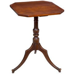 Cherry Federal Candlestand, Probably CT, circa 1800