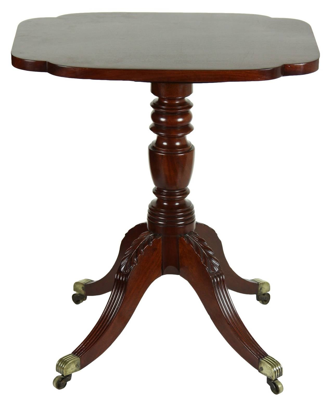 American Classical Tilt-Top Candlestand with Four Legs, Phyfe School, New York For Sale