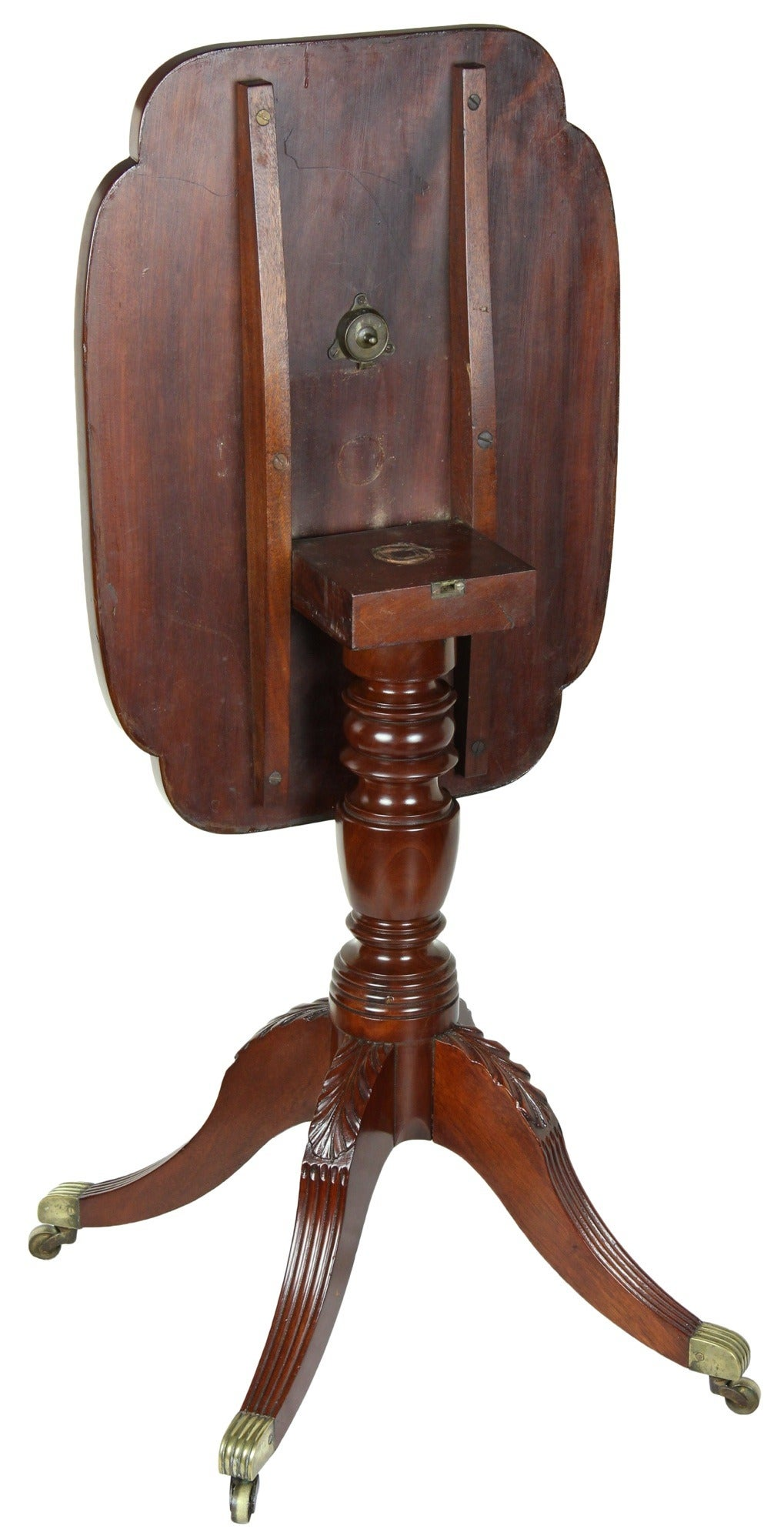 American Classical Classical Tilt-Top Candlestand with Four Legs, Phyfe School, New York For Sale