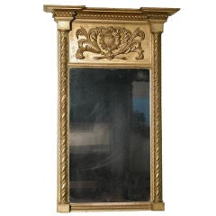 Classical Gilt Mirror with Carved Panel