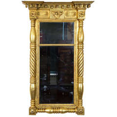 Large Classical Carved Gilt Mirror, 1830-1840