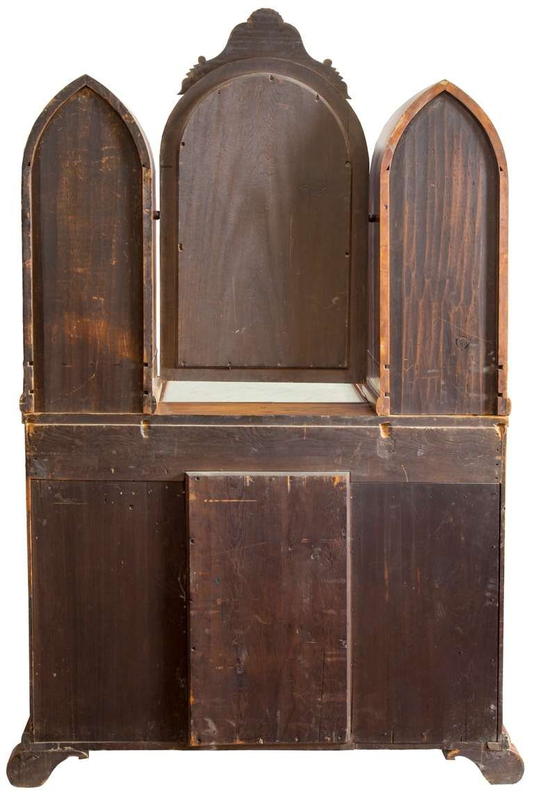 Gothic Mahogany Dressing Bureau Circa 1840 At 1stdibs