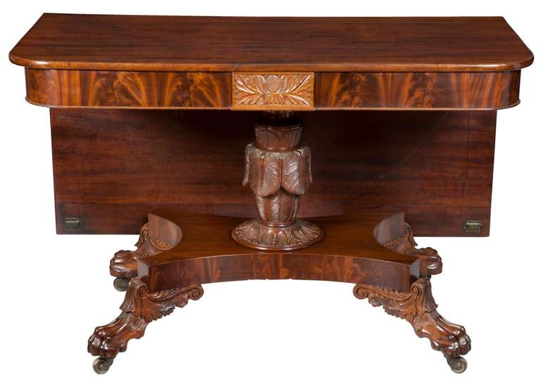 Classical Carved Mahogany Dining Table For Sale at 1stdibs : piece3frontl from www.1stdibs.com size 768 x 537 jpeg 38kB