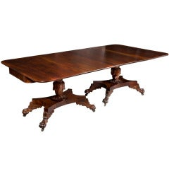 Classical Carved Mahogany Dining Table