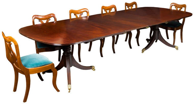 classical double pedestal mahogany dining room table england image 2