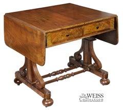 Gothic Walnut Sofa Table, Possibly New York, circa 1840