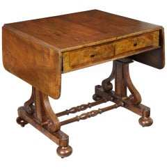 Gothic Walnut Sofa Table, Possibly New York, circa 1840