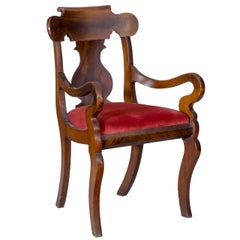 Mahogany Neoclassical Armchair, Boston, circa 1830