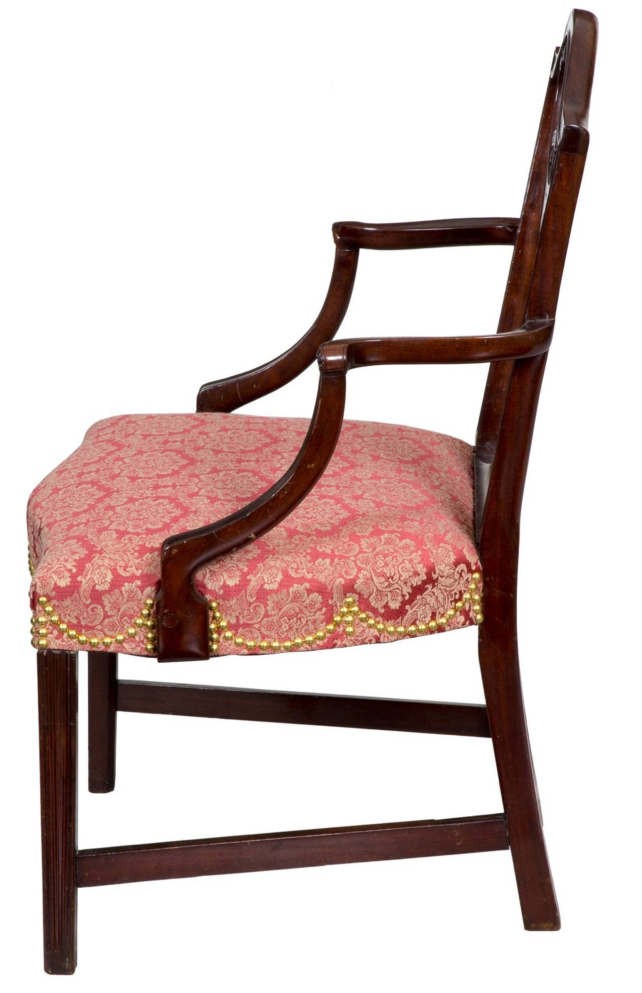 Hepplewhite Shield Back Armchair, Mahogany, New York, circa 1790 In Excellent Condition For Sale In Providence, RI