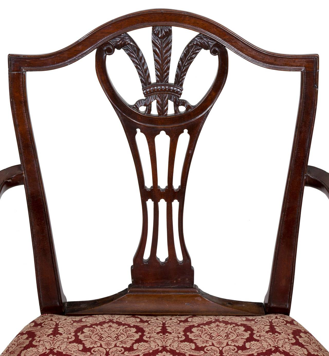 American Hepplewhite Shield Back Armchair, Mahogany, New York, circa 1790 For Sale