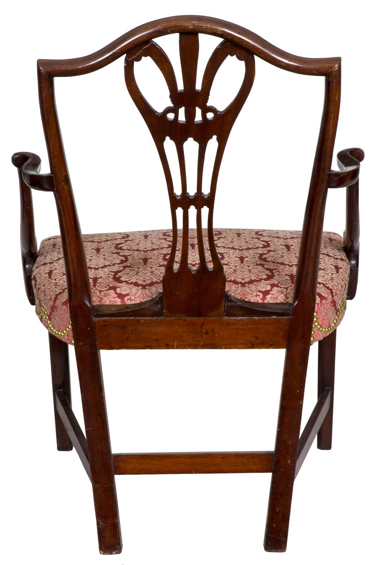 Late 18th Century Hepplewhite Shield Back Armchair, Mahogany, New York, circa 1790 For Sale