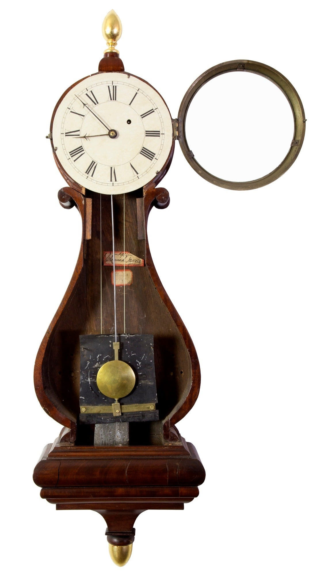 Federal Classical Lyre Form Banjo Clock Boston Circa