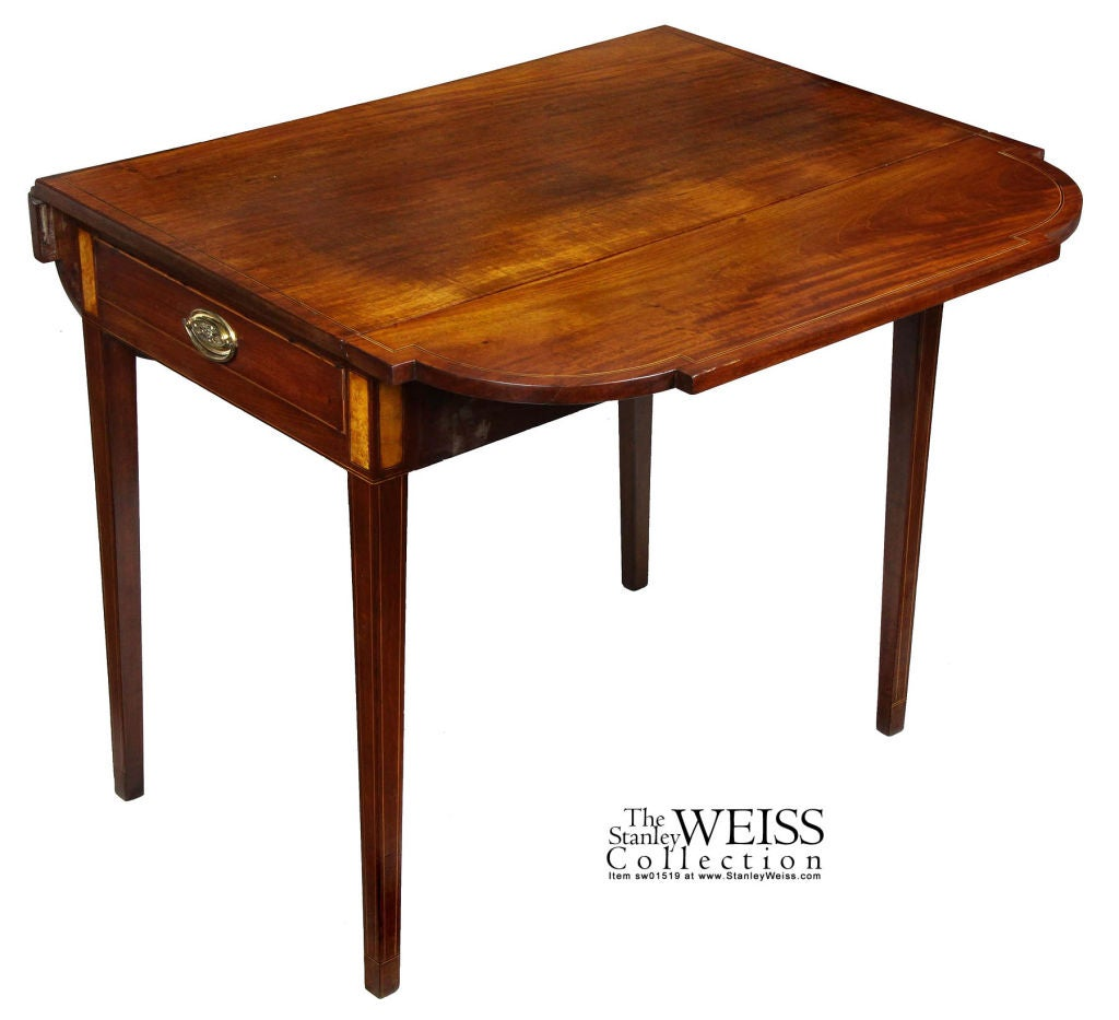 Mahogany Federal Or Hepplewhite Inlaid Pembroke Table At