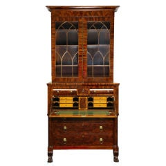 Classical Carved Mahogany Secretary of Grand Scale, New York