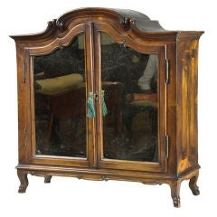 Continental Walnut Kunst Cabinet with Hoof Feet