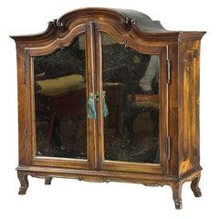 Continental Walnut Kunst Cabinet with Hoof Feet