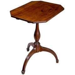 Mahogany Federal Tilt-Top Table with Spider Legs