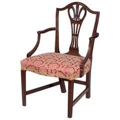 Hepplewhite Shield Back Armchair, Mahogany, New York, circa 1790