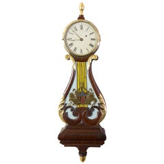 Federal / Classical Lyre Form Banjo Clock, Boston, circa 1810