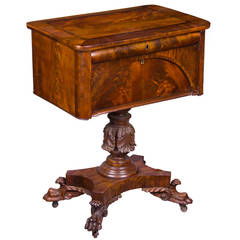 Classical Mahogany Worktable Attributed to Anthony Quervelle, circa 1830