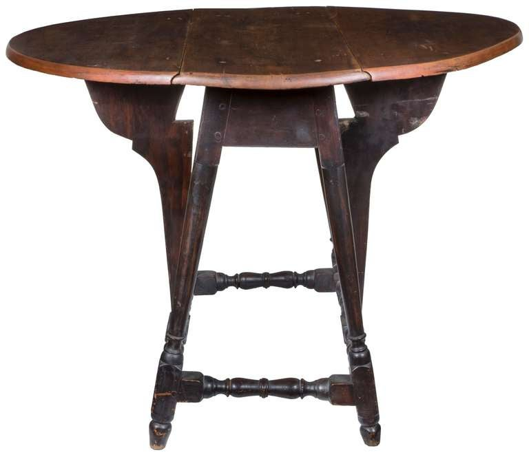 A Rare Maple William And Mary Butterfly Table New England