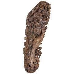 Large Elaborately Carved Chinese or Japanese Bird Bracket, circa 1890-1910
