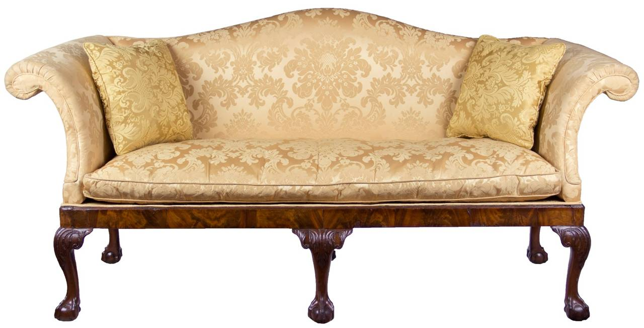 Chippendale Camelback Sofa With Claw And Ball Feet English Or Irish Circa 1770 For Sale At 1stdibs