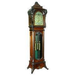 Monumental Louis XIII   Musical 9-tube Tall Case Clock