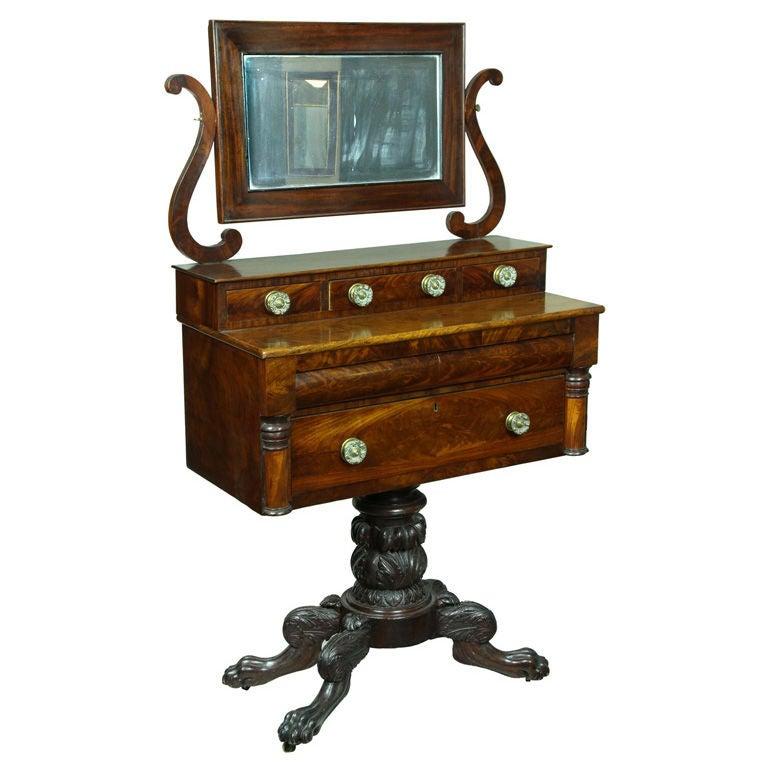 Classical Carved Mahogany Dressing Table, Philadelphia
