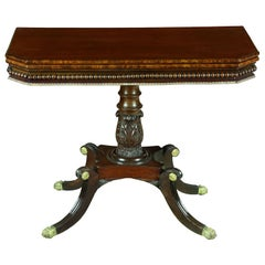 Fine Mahogany Neoclassical Card Table
