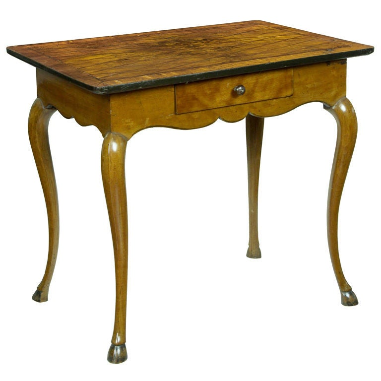 Louis XV Provincial Walnut and Fruitwood Side Table, France
