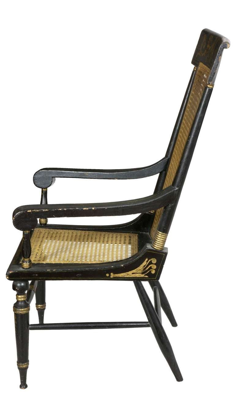 American Classical Painted Armchair, Baltimore, circa 1820 For Sale