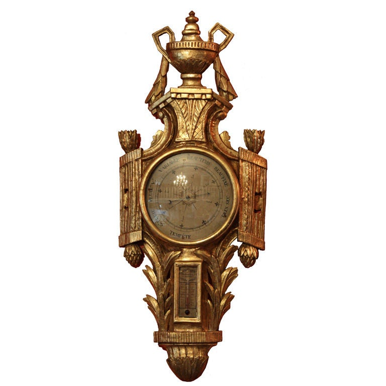 Giltwood Barometer, French, 18th Century