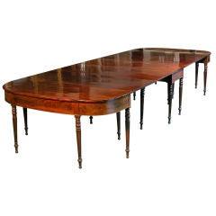 Monumental Sheraton Three-Part Dining Room Table, Boston