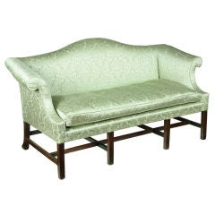 Small-Scale Chippendale Mahogany Camelback Sofa