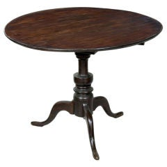 Mahogany Neoclassical Center Table Pineapple Base And