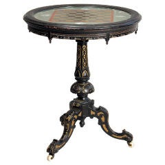 Fine Eglomise Games Table, circa 1890