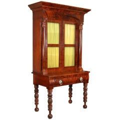 Carved Mahogany Classical Desk or Bookcase