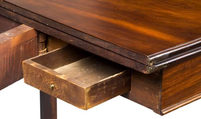 American Mahogany Chippendale Card Table, With Hidden Drawer, Newport,  Circa 1780 For Sale