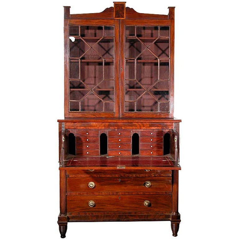 Federal Secretaire with Drop Front Desk Drawer Baltimore