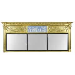Monumental Federal Giltwood Overmantel Mirror