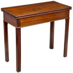 Mahogany Chippendale Card Table, with Hidden Drawer, Newport, circa 1780
