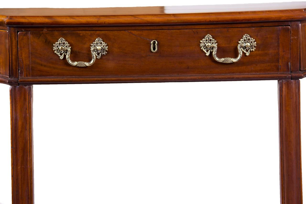 Chippendale Mahogany George III Console Table / Telescopic Reading Table, circa 1790 For Sale
