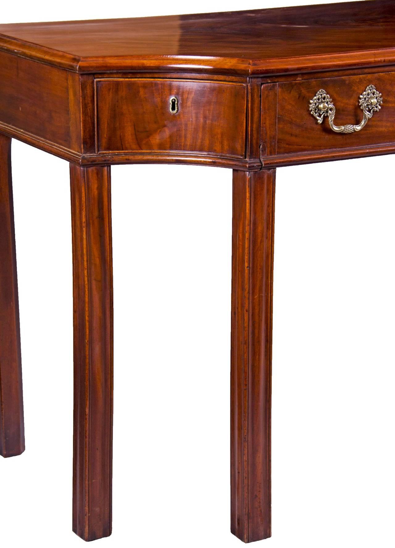 English Mahogany George III Console Table / Telescopic Reading Table, circa 1790 For Sale