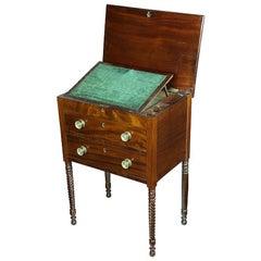 Sheraton Mahogany Work Table, New York, circa 1810