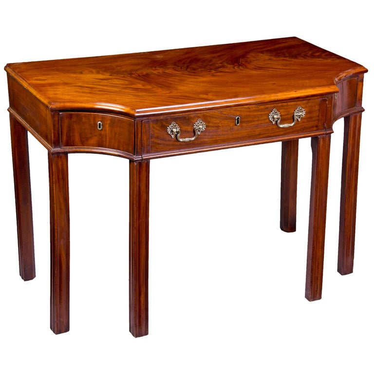 Mahogany George III Console Table / Telescopic Reading Table, circa 1790 For Sale