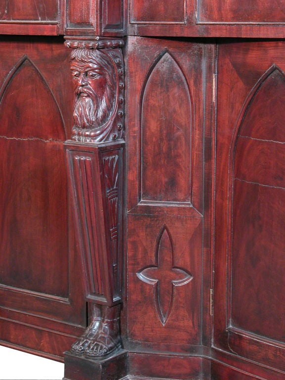 19th Century Monumental Mahogany Neoclassical Sideboard, Baltimore For Sale