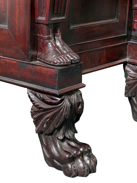 Monumental Mahogany Neoclassical Sideboard, Baltimore For Sale 1